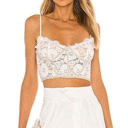 V. Chapman Chateau Top in Stretch Lace from Revolve.com | Revolve Clothing (Global)