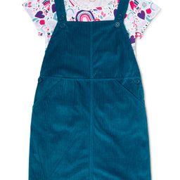 Wonder Nation Girls Short Sleeve T-Shirt and Skirtall, 2-Piece Set, Sizes 4-18 & Plus   Walmart (US)