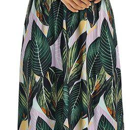 OUGES Womens Summer Deep V Neck Floral Adjustable Spaghetti Strap Beach Maxi Dress | Amazon (US)