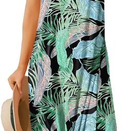For G and PL Women's Summer Side Slit Halter Maxi Dress | Amazon (US)