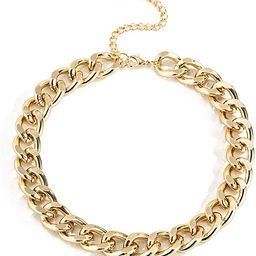Ingemark Cuban Chunky Link Chain Choker Unisex Punk Style Thick Wide Necklace Jewelry | Amazon (US)