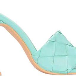 Open Toe Mule Heels Slip On Sandals For Women | Amazon (US)
