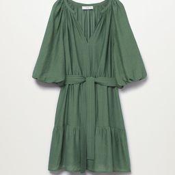 Puffed sleeves dress | MANGO (US)