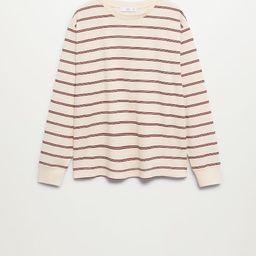 Long sleeve cotton t-shirt | MANGO (US)