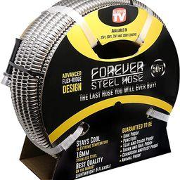 FOREVER STEEL HOSE | 50FT 304 Heavy Duty Stainless Steel Metal Garden Water Hose - Kink Free, Fle... | Amazon (US)