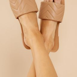 Watching The Waves Taupe Sandals | Red Dress