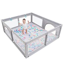 Baby Playpen,Playpens for Babies, Extra Large Playpen for Toddlers,Kids Safety Play Center Yard w... | Amazon (US)