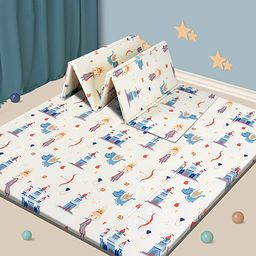 Baby Play mat, Foam Playmat Kids Folding Mat Reversible Waterproof Non Toxic, Crawling Mat for Ba... | Amazon (US)