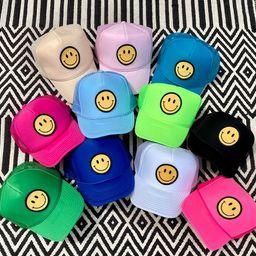 Smiley Face Trucker Hat   Etsy   Etsy (US)