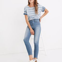 """10"""" High-Rise Skinny Crop Jeans in Welling Wash: Summerweight Edition 