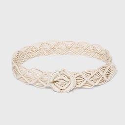 Women's Macramé Belt - Universal Thread™   Target