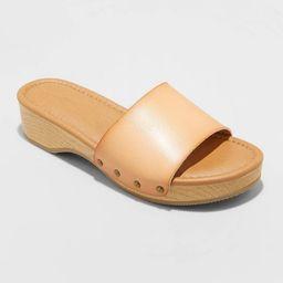 Women's Kora Faux Wood Bottom Sandals - Universal Thread™   Target