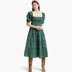 The Nesli Nap Dress - Emerald Trellis | Hill House Home