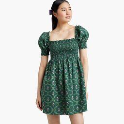 The Athena Nap Dress - Emerald Trellis | Hill House Home
