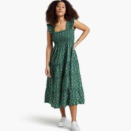 The Ellie Nap Dress - Emerald Trellis | Hill House Home