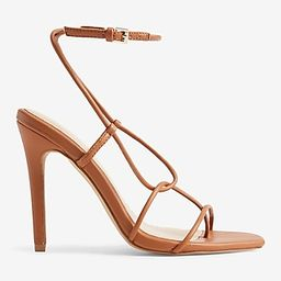 Barely There Strappy Heeled Sandals | Express