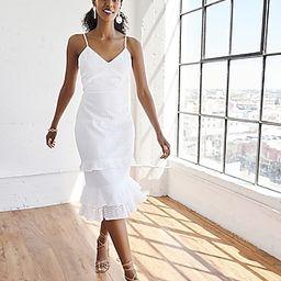 Eyelet Lace Tiered Ruffle Midi Dress | Express