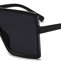 GRFISIA Square Oversized Sunglasses for Women Men Flat Top Fashion Shades | Amazon (US)