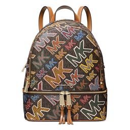 Medium Rhea Monogram Coated Canvas Zip Backpack   Saks Fifth Avenue