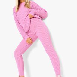 Slouchy Rib Knitted Tracksuit   Boohoo.com (US & CA)