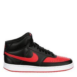 Nike Mens Court Vision Mid Sneaker - Black   Rack Room Shoes