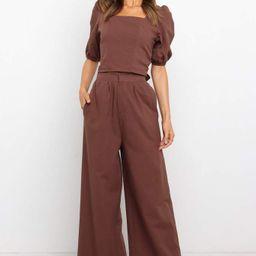 Rizo Pants - Chocolate - Brown | Petal & Pup (US)