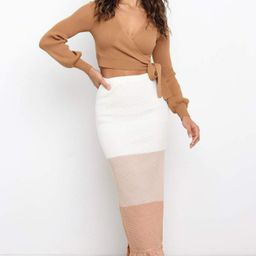 Miranda Skirt - Camel Stripe | Petal & Pup (US)