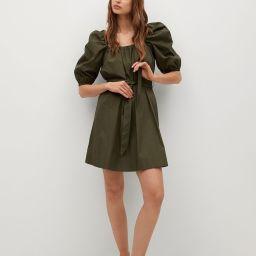 Search: Olive Green Popelin belt dress (20)   Mango USA   MANGO (US)