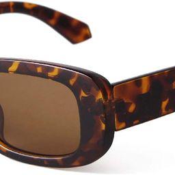 ADE WU Rectangle Retro Vintage 90s Sunglasses Chunky Black Thick Frame Glasses Y2K   Amazon (US)