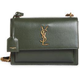 Medium Sunset Leather Shoulder Bag | Nordstrom
