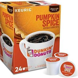Dunkin Donuts K-Cups Pumpkin Spice - Box of 24 Kcups for use in Keurig Coffee Brewers   Amazon (US)