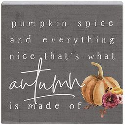 Simply Said, INC Small Talk Squares, Pumpkin Spice and Everything Nice- Rustic Wooden Sign 5.25 x...   Amazon (US)