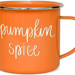 Sweet Water Decor Pumpkin Coffee Mugs   18oz Galvanized Steel Campfire Style Coffee Cup   Autumn ...   Amazon (US)