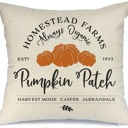 AENEY Fall Decor Pillow Cover 18x18 inch Pumpkin Patch Throw Pillow for Fall Farmhouse Fall Decor...   Amazon (US)