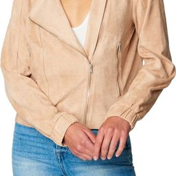 Faux Suede Moto Bomber | Nordstrom