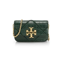 Eleanor Quilted Croc-Embossed Leather Crossbody Phone Bag | Saks Fifth Avenue