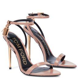 Padlock leather sandals   Mytheresa (US)