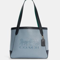 tote in colorblock with horse and carriage | Coach Outlet