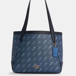 Horse and Carriage Tote With Horse and Carriage Dot Print | Coach Outlet