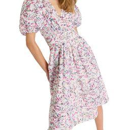 Floral-Print V-Neck Cotton Dress   Macys (US)