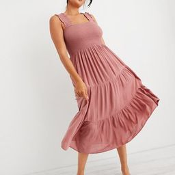 Aerie Smocked Midi Dress | American Eagle Outfitters (US & CA)
