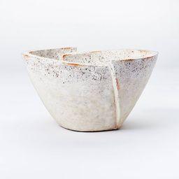 Decorative Sculptural Geometric Folded Bowl Cream - Threshold™ designed with Studio McGee   Target