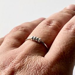 Dainty Fidget Ring, Silver Worry Ring for Her, Meditation Ring for Mindfulness, Womens Spinner Ri...   Etsy (CAD)