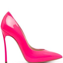 patent leather pointed pumps   Farfetch (US)