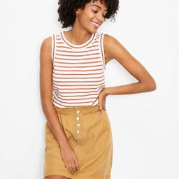 Striped Relaxed Crew Neck Tank | LOFT