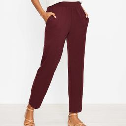 Pintucked Tapered Pants in Crepe   LOFT