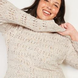 Textured Cable-Knit Plus-Size Pointelle Sweater | Old Navy (US)