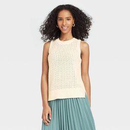 Women's Crewneck Tank Sweater Vest - A New Day™ | Target