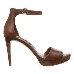 Nine West Women's Sandals XBR08 - Spice Brown Querrey Leather Sandal - Women | Zulily
