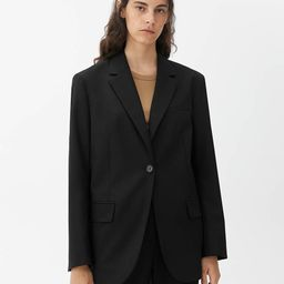 Oversized Wool Hopsack Blazer                         £135 | ARKET